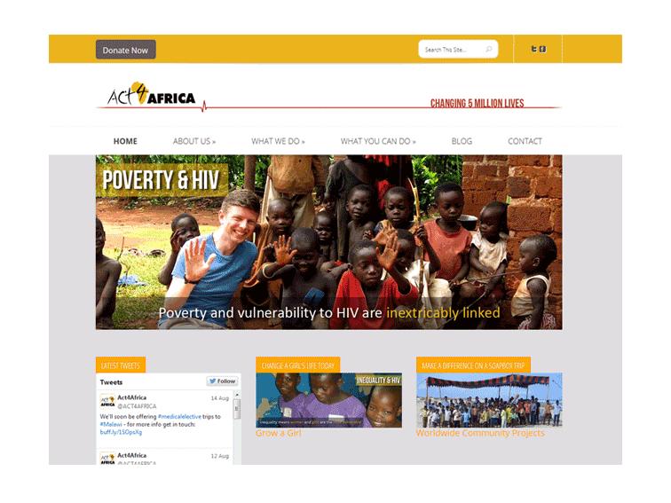 Act4Africa Web Design
