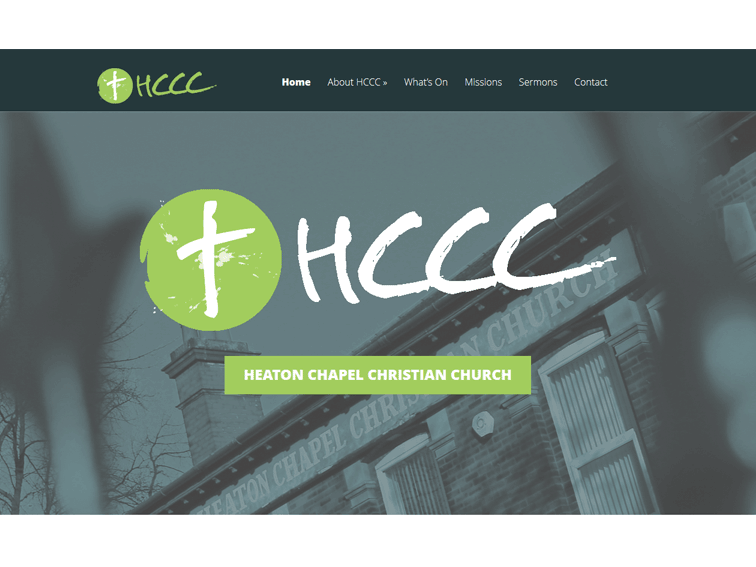 Heaton Chapel Christian Church Web Design
