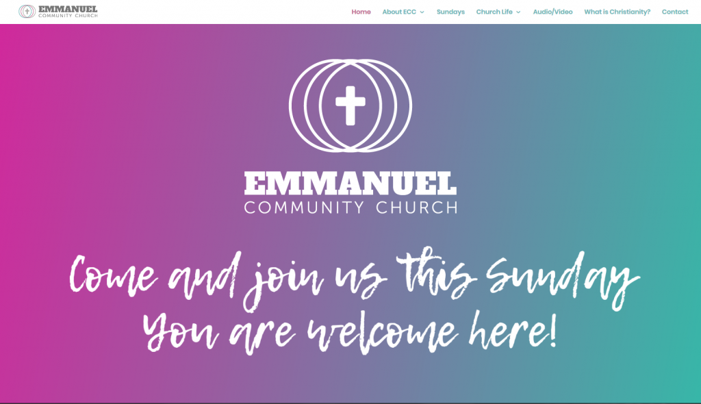 Emmanuel Community Church Web Design - Hero Header
