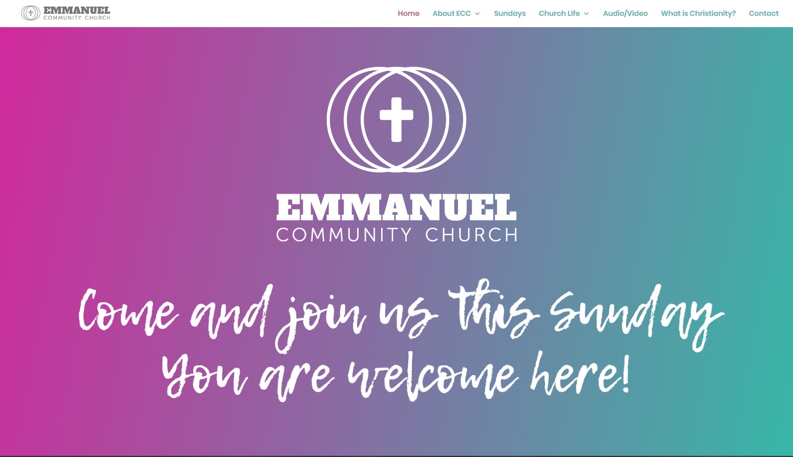Emmanuel Community Church Web Design - Hero Header