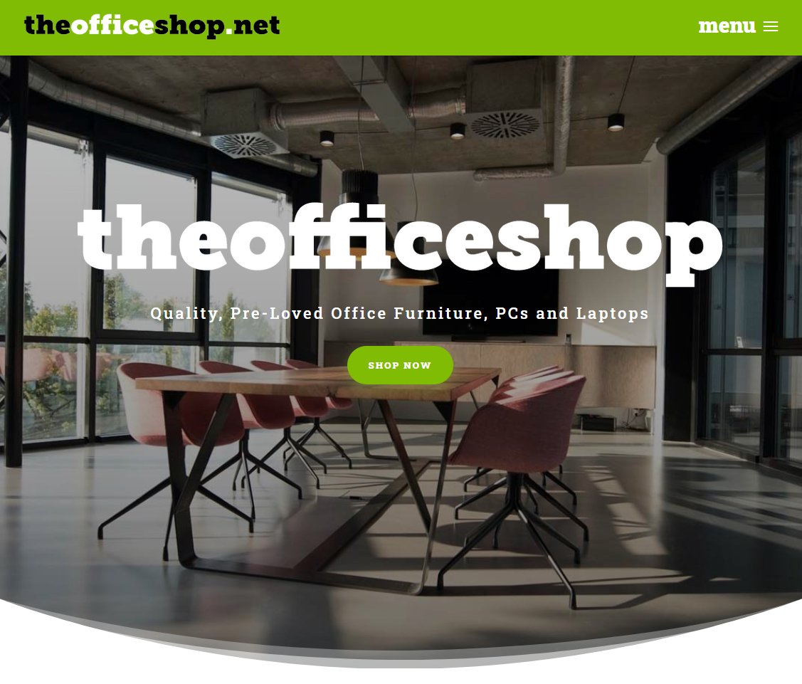 the office shop homepage